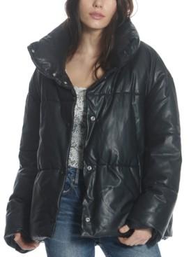 Vigoss Faux-Leather Puffer Jacket