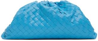 Bottega Veneta Blue Intrecciato The Pouch Clutch