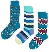 Happy Socks Geometric Socks (3 PK)