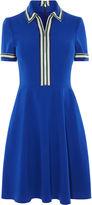 Karen Millen Sporty Polo Dress - Blue