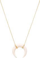 Jacquie Aiche Bone Pendant Crescent Necklace
