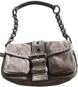 Prada Grey Suede Handbags