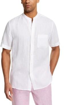 Tasso Elba Men's Crossdye Linen Woven Short-Sleeve Shirt, Created for Macy's