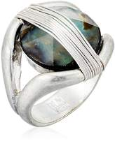 """Robert Lee Morris It's Ringing"""" Wire Wrapped Stone Sculptural Ring, Size 8.5"""