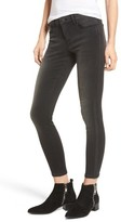 BP Women's Faux Leather Stripe Skinny Jeans