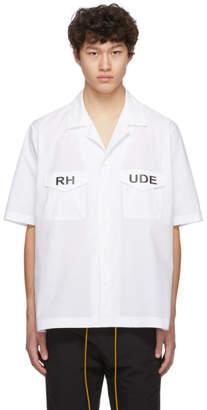 Rhude White Mechanic Shirt