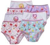Peppa Pig Little Girls Panties 7 Pairs Underwear Briefs, Multi Color