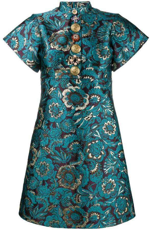 Dolce & Gabbana brocade floral print mini dress