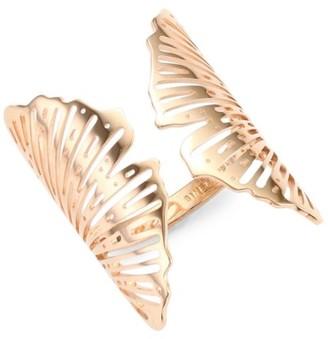 ginette_ny 18K Rose Gold Ginkgo Ring