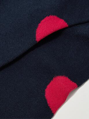 Blue Blue Japan Intarsia Cotton-Blend Socks