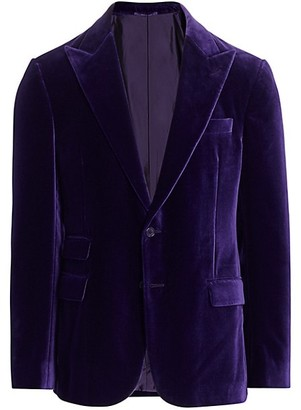 Ralph Lauren Purple Label Basic Cotton Velvet Jacket