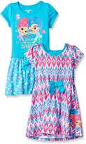 Nickelodeon Little Girls' Shimmer and Shine 2 Pack Dress