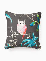 Kate Spade Trellis blooms hoot pillow