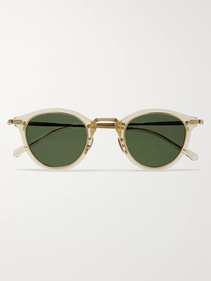 Mr Leight Stanley S Round-Frame Acetate And Gold-Tone Titanium Sunglasses