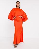 Asos Edition EDITION kimono sleeve maxi dress in satin