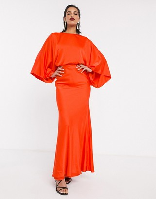 ASOS EDITION kimono sleeve maxi dress in satin