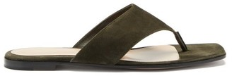 Gianvito Rossi Thong Suede Sandals - Green
