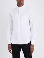 Officine Generale Raw-hem slim-fit cotton shirt