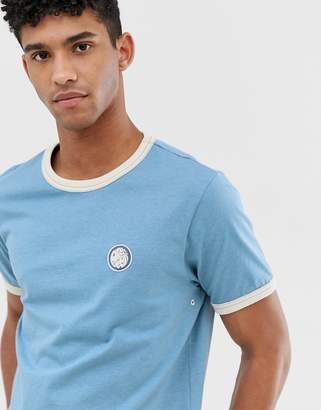 Pretty Green ringer t-shirt in blue