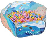 Sugar Q SPT005 Kids Ball Pit Blue Ocean Pool Playpen Pop-up Tent with 25 Plastic Balls