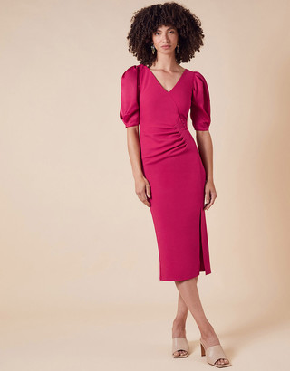 Monsoon Eleanore Stretch Shift Dress Pink