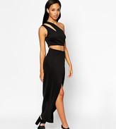 Asos 2 Piece Cut Away Scuba Maxi Dress