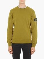 Stone Island Yellow Cotton Sweatshirt