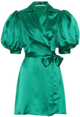 Alessandra Rich Silk satin minidress