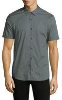 John Varvatos Printed Cotton Casual Button-Down Shirt