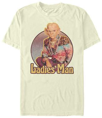 Fifth Sun Deep Space Nine Quark Ladies Man Mens Crew Neck Short Sleeve Star Trek Graphic T-Shirt