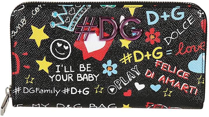 Dolce & Gabbana Assorted Print Logo Zip-around Wallet