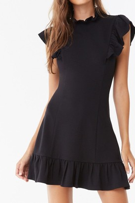 Forever 21 Flounce Bodycon Mini Dress