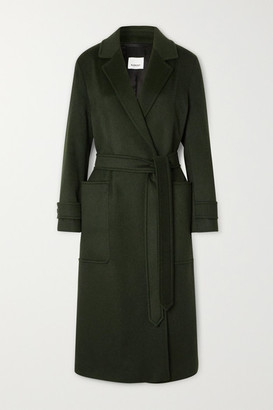 Burberry Belted Cashmere Coat - Green