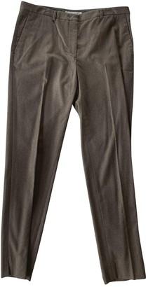 Fabiana Filippi Brown Wool Trousers for Women