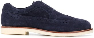 Hogan Contrast Rubber Sole Brogues