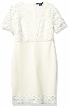 French Connection Women's Viola Lula Lace Jersey Dress