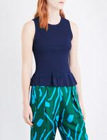 Diane von Furstenberg Sleeveless knitted peplum top