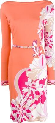 Emilio Pucci printed long-sleeve dress