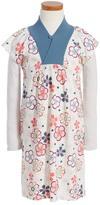 Tea Collection Ukiuki Kimono Neck Dress (Toddler, Little Girls & Big Girls)