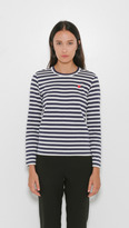 Comme des Garcons Play Striped Long Sleeve Tee