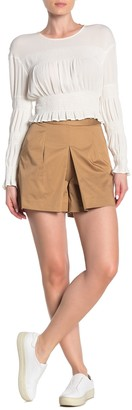 J.Crew Sateen Refined Pleated Shorts
