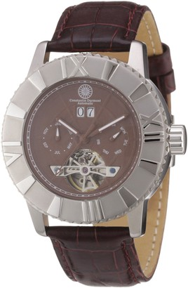 Constantin Durmont Men's Automatic Watch CD-Shen-at-LT-STST-BR with Leather Strap