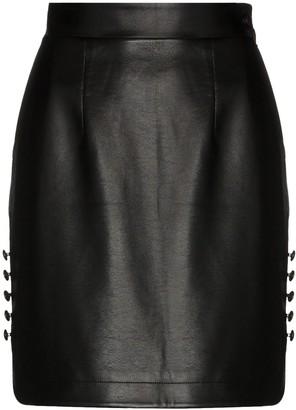 MATÉRIEL High-Waisted Faux Leather Mini Skirt