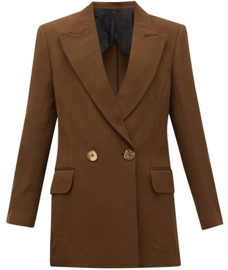 Petar Petrov Double-breasted Wool-blend Jacket - Brown