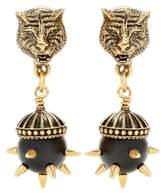 Gucci Feline Head clip-on earrings
