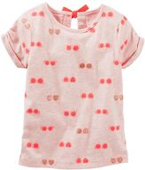 Osh Kosh Toddler Girl Bow-Back Cuffed Tee