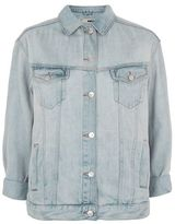 Topshop Moto seam oversized denim jacket