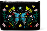 Mary Katrantzou Printed patent-leather pouch