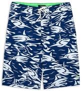 Ralph Lauren Boys' Shark Print Board Shorts - Big Kid