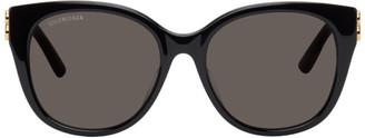 Balenciaga Black Dynasty Cat-Eye Sunglasses